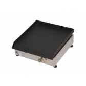 plancha acier lamine gaz inox 40x40cm delorm design