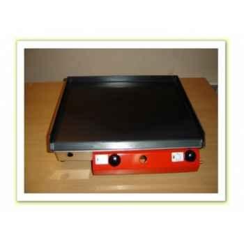 Plancha acier lamine gaz inox 51x40cm Delorm Design