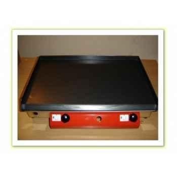 Plancha acier lamine gaz inox 65x40cm Delorm Design