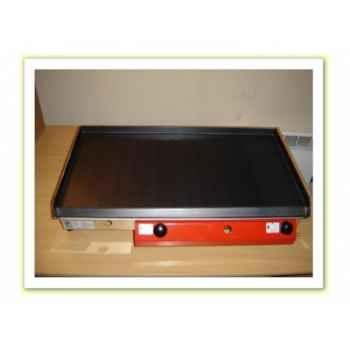 Plancha acier lamine gaz inox 80x40cm Delorm Design