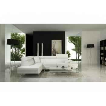 Salon d'angle miami blanc Delorm Design