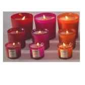tour de table bougie moyen modele senteur geranium rosat
