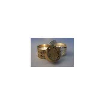 Tour de Table -Boîte métal photophore rouille