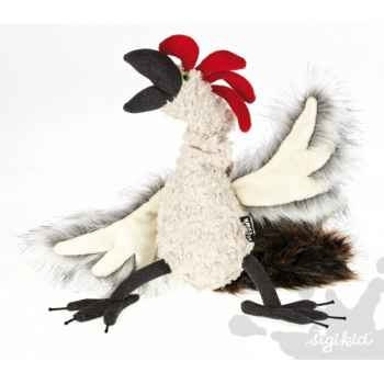 Peluche coq chicken checker sigikid -38084