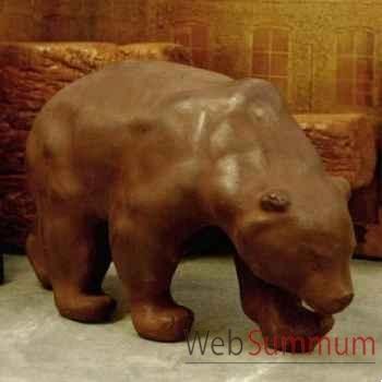 Sculpture ours Objet de Curiosité -AN002