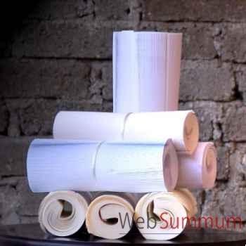 Livres blancs en rouleau: lôt Objet de Curiosité -LIV008