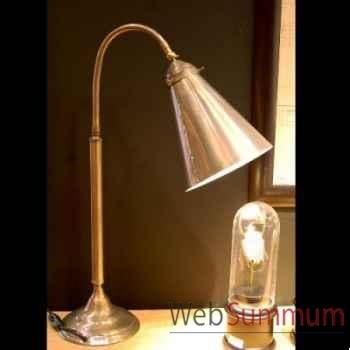 Lampe d'établi gris mat Objet de Curiosité -LU055