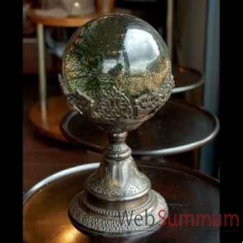 Boule de verre gravée Objet de Curiosité -DL081