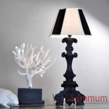 Lampe en bois brûlé Objet de Curiosité -LU109
