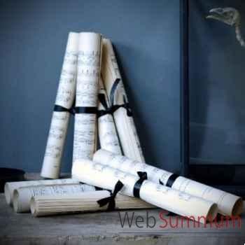 Livres partitions de musique en rouleau Objet de Curiosité -LIV005
