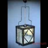 lustre carre miroirs vieillis objet de curiosite lu120