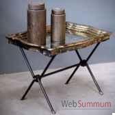 table basse miroir antique objet de curiosite mb006