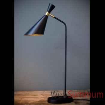 Lampe de bureau 50's (noir et or) Objet de Curiosité -LU100