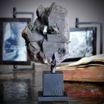 Cristal noir mat Objet de Curiosité -PUMI048