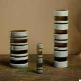 lot de 3 vases gris fume objet de curiosite va033