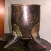 petite coupe en cuivre martele objet de curiosite dc005