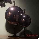 miroir convexe sur pied laiton pm objet de curiosite mr009
