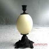 bougeoir laiton noir objet de curiosite dl050