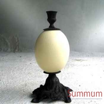 Bougeoir laiton noir Objet de Curiosité -DL050