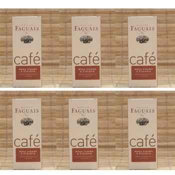 Maison Faguais-Lot de 6 paquets café Moka Sidamo d'Ethiopie.