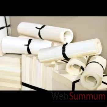 25 rouleaux de livres blancs et ruban noir Objet de Curiosité -LIV008BIS