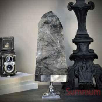 Cristal transparent avec filaments de tourmaline Objet de Curiosité -PUMI321