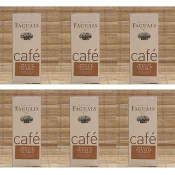 Maison Faguais-Lot de 6 paquets café Excelso de Colombie.