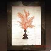tableau de gorgone rouge objet de curiosite ta060