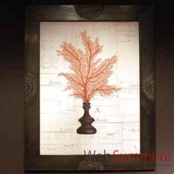 Tableau de gorgone rouge Objet de Curiosité -TA060