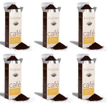 Maison Faguais-Lot de 6 paquets café Maragogype du Mexique.