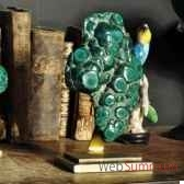malachite polie objet de curiosite mi041