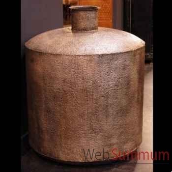 Vase géant en acier plaqué argent. Objet de Curiosité -DA086