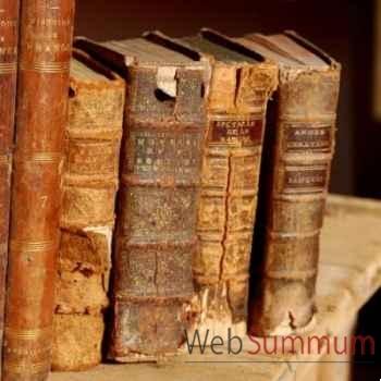 Livres reliure xviii lot de 10 pièces Objet de Curiosité -LIV010
