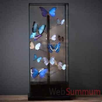 Globe papillons bleus Objet de Curiosité -IN039