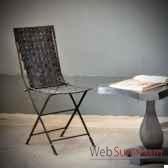 chaise en pneu recycle objet de curiosite si031