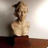 buste de femme maori objet de curiosite scu004