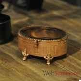 boite ovale cuivre objet de curiosite va021