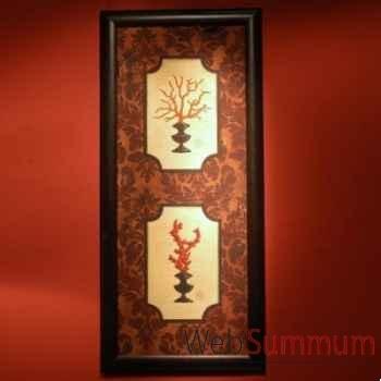Tableau de corail rouge Objet de Curiosité -TA044