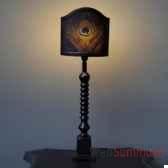 lampe paon henri ii objet de curiosite lu094