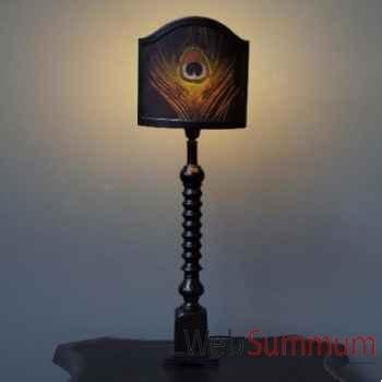 Lampe paon henri ii Objet de Curiosité -LU094