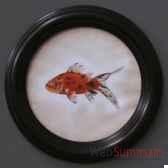 tableau rond de poisson objet de curiosite ta072