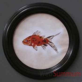 Tableau rond de poisson Objet de Curiosité -TA072
