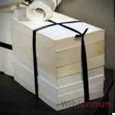 livres broches 1metre blancs ruban noir objet de curiosite liv003bis