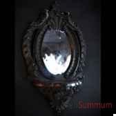 consolette miroir noire objet de curiosite da025