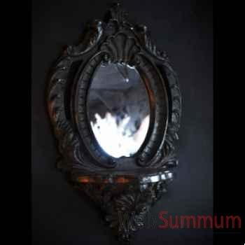 Consolette miroir noire Objet de Curiosité -DA025