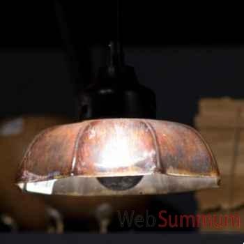 Lustre parapluie en verre mercurisé Objet de Curiosité -LU096