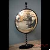 miroir convexe en aluminium gm objet de curiosite mr010