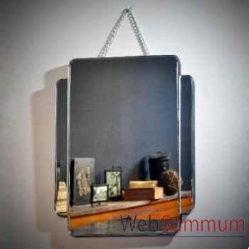 Miroir biseauté avec chaine Objet de Curiosité -MR013