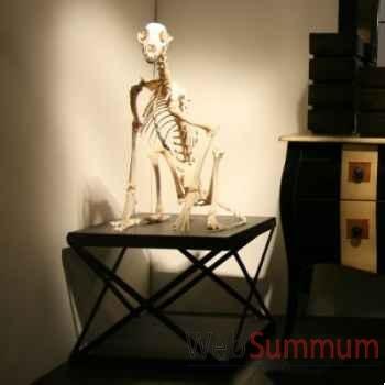 Squelette de guépard sur sellette industrielle Objet de Curiosité -PU284