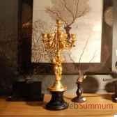 candelabre angelot en or mat objet de curiosite dl069